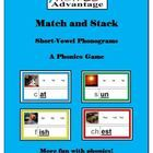 Match and Stack Short-Vowel Phonograms emphasizes decoding skills. In a game-oriented atmosphere match beginning consonant cards to 40 different sh...