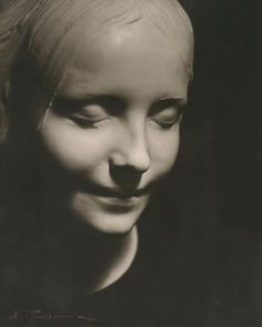 "The death mask known as L'Inconnue de la Seine, taken from an unidentified young girl who was said to have committed suicide in the Seine River, around 1880. A pathologist at the Paris morgue was so taken by her beauty that he had the death mask of her face made.  Her enigmatic smile has been compared to that of the Mona Lisa and her face was used for the head of the first aid mannequin Resusci Anne ( resuscitation doll)...called by some ""the most kissed face"" of all time."