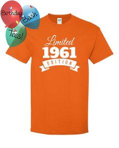 1961 Birthday Shirt 55 Limited Edition by BirthdayBashTees on Etsy