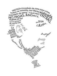 Caligrama de Pablo Neruda