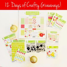 Very refreshing colors!! LOVE this collection! #blitsygoldenscissors Enter Blitsy's 12 Days of Crafty Giveaway! New prizes every day through Cyber Monday!