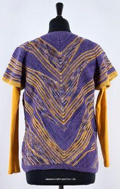 Diagonal Weste lila Töne Blouse, Patterns, Tops, Women, Fashion, Sweater Vests, Lilac, Wearable Art, Vest