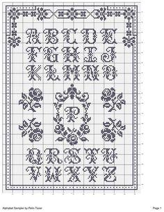 Brilliant Cross Stitch Embroidery Tips Ideas. Mesmerizing Cross Stitch Embroidery Tips Ideas. Monogram Cross Stitch, Cross Stitch Alphabet Patterns, Embroidery Alphabet, Cross Stitch Borders, Cross Stitch Samplers, Cross Stitch Charts, Cross Stitch Designs, Cross Stitching, Cross Stitch Embroidery