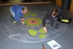 Hometalk :: Hand painted floor cloth . . . on a budget.