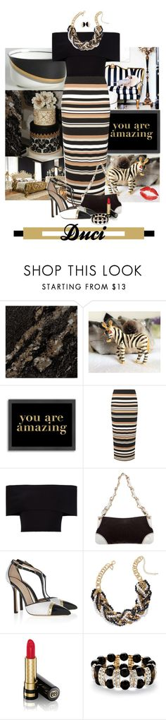 """""""inspired: you are amazing"""" by duci ❤ liked on Polyvore featuring Mikasa, Americanflat, mel, Rosetta Getty, Chanel, Emilio Pucci, Thalia Sodi, Gucci and Palm Beach Jewelry"""