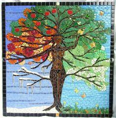 Baum des Lebens Mosaik Bild von Waschbear Designs auf DaWanda.com