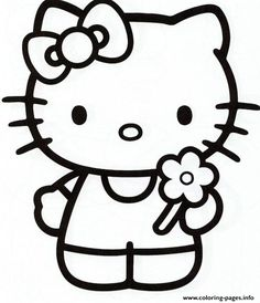 ausmalbild kleine ballerina hello kitty | ausmalbilder hello kitty, ausmalbilder, bilder zum