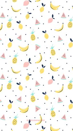 19 Ideas for fruit pattern wallpaper wall papers Iphone Wallpaper Yellow, Pineapple Wallpaper, Summer Wallpaper, Iphone Background Wallpaper, Cool Wallpaper, Mobile Wallpaper, Pattern Wallpaper, Trendy Wallpaper, Wallpaper Ideas
