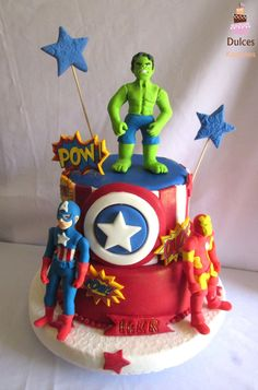 #TortaSuperheroes #TortasDecorads