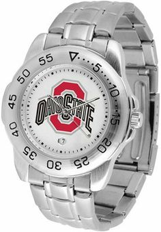 Ohio State Buckeyes Suntime Mens Sports Watch w/ Steel Band - NCAA College Athletics by SunTime. $49.95. The Sport Steel watch by Suntime features your favorite team logo in a European styled stainless steel case with a stainless steel strap and security buckle.. Save 29%!