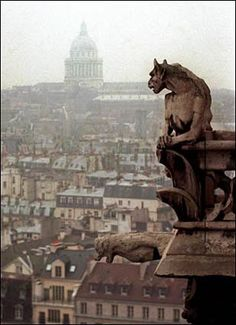 I love Gargoyles although the correct term is Grotesque or Chimera. The only Gargoyle in this picture is the one at the bottom (it spits out rainwater).