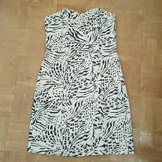 H&M dress Animal print. Strapless. Back zipper. Tags attached. Never worn. Size 10 H&M Dresses Strapless