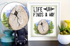 Life Finds a Way Jurassic Park Dinosaur Ian by PrintWithLove
