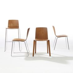Aava's wooden chairs,  designed by Antti Kotilainen.The wooden shell and base are fabricated in a diverse range of materials, colors and finishes.