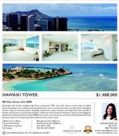 さとうあつこのハワイ不動産: Hawaiki Tower 4008 & 1403 Broker Open 9:30-11:30 t...