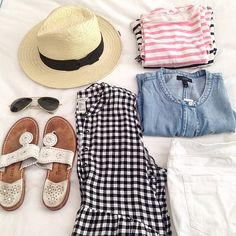 Stripes, white and chambray. || like the � after registering  to see what e...... @liketoknow.it www.liketk.it/1xkrK #liketkit