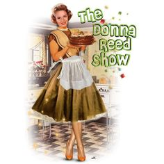 The Donna Reed Show by duchessbee on Polyvore featuring art The Donna Reed Show, Blonde Celebrities, Retro Housewife, After Life, Iconic Movies, Vintage Tv, Great Women, Gilmore Girls, Classic Tv