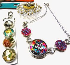 Resin Crafts: More KLIK Submissions Into Finished Jewelry! resin, resin crafts, epoxy, jewelry