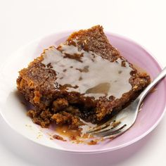Warm Sticky Toffee Pudding Recipe -This rich dessert is not pudding in the American sense of the word. The moist, spiced cake is loaded with mincemeat and toasted walnuts, drizzled with warm buttery toffee sauce. We like our sticky toffee pudding steaming or at room temperature. —Denise Nyland, Panama City, Florida