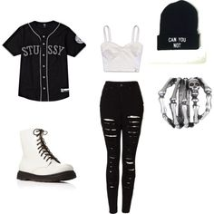 Bad Girl by tonisha1994 on Polyvore featuring Hollister Co., Stussy, The Ragged Priest, Forever 21 and Gathering Eye