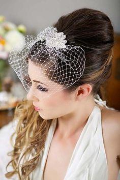 Birdcage Veil by Real Size Bride, Swarovski Crystals,
