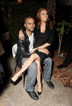 Tony Parker and Eva Longoria at Kids With Cancer Rally 2010