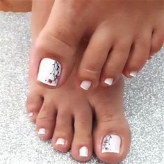 trend nail design inspiration picture - Page 47 of 109 - Inspiration Diary Pedicure Designs, Toe Nail Designs, Acrylic Nail Designs, Acrylic Nails, Pretty Toe Nails, Cute Toe Nails, Toe Nail Art, Beach Toe Nails, Summer Toe Nails
