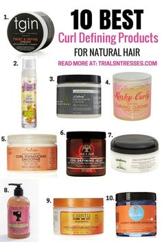 10 Best Curl Defining Products For Natural Hair - Trials N Tresses This is product junkie heaven. If you are struggling with defining your twist outs here are 10 of the best curl defining products for natural hair. Best Natural Hair Products, Natural Haircare, Natural Hair Tips, Natural Hair Journey, Natural Hair Styles, Products For Curly Hair, Best Curl Products, Natural Hair Curls, Going Natural