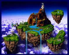 I always dreaming that there must be some place like this on earth... Floating land... :')