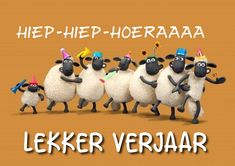 Shaun the sheep. Birthday Wishes For Friend, Birthday Wishes Quotes, Animation, Sheep Cartoon, Buddha Doodle, Timmy Time, Sheep Art, Shaun The Sheep, Counting Sheep