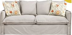 Selecting the Perfect Slipcovered Sofa [inspiration] - cost $1100 - think I'll sew it myself