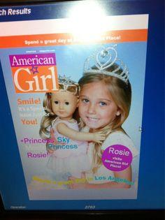 Rosie as an American Girl.