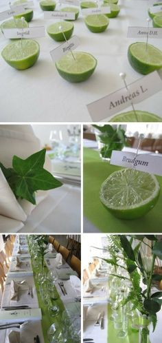 Lovely idea for a party! Lemon Centerpieces, Barbecue Garden, Halloween Decorations, Wedding Decorations, Etiquette And Manners, Wedding Notes, Party Entertainment, Decoration Table, Plant Decor