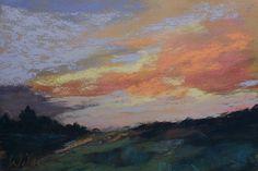 End of Day by Judy Wilder Dalton Pastel ~ 5 x 7