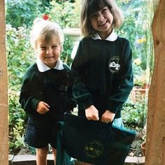 Instagram photo by joe_sugg - Tbt my first day of primary school. I wore shorts every day even in winter. My mum used to try and make me wear trousers but I refused. Oh and look at @zozeebo  trying to out-cute me!