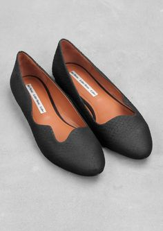 Wave-cut ballerina flats | Wave-cut ballerina flats | & Other Stories