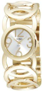 XOXO Women`s XO5211 Silver Dial Gold-tone Open Link Bracelet Watch