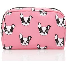Who could resist such a cute face? This makeup case features a top zipper and an adorable Boston Terrier. Tote around all your beauty essentials in this and ke…