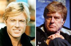 Robert Redford then and now