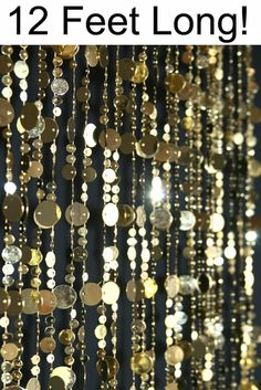 Bubbles Beaded Curtains - Lighter Gold - 3 ft x 6 ft Light Gold Backdrop, Beaded Curtain Light Gold Circles, Soft Gold Event Decoration James Bond Party, James Bond Theme, Speakeasy Party, Gatsby Themed Party, Mafia Party, Beaded Door Curtains, Roaring 20s Party, Roaring 20s Wedding, Gatsby Wedding