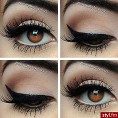 Gorgeous Wing tips:: Pin Up Girl Makeup:: Retro Style:: Vintage: