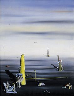 Collection Online   Yves Tanguy. The Sun in Its Jewel Case (Le soleil dans son écrin). 1937 - Guggenheim Museum. The Sun in Its Jewel Case (Le soleil dans son écrin), 1937. Oil on canvas, 45 7/16 x 34 11/16 inches (115.4 x 88.1 cm). The Solomon R. Guggenheim Foundation, Peggy Guggenheim Collection, Venice 76.2553.95 © 2014 Estate of Yves Tanguy/Artists Rights Society (ARS), New York