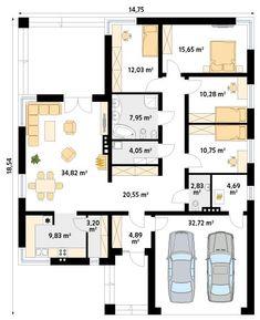 DOM.PL™ - Projekt domu MT Decyma CE - DOM MS2-37 - gotowy koszt budowy Cheap Windows, Elegant Kitchens, Double Room, Closet Designs, Range Of Motion, Kitchen Colors, Display Case, Wooden Boxes, My Dream Home