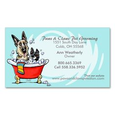 Pet groomer spa dogs cat robes pink appointment business card pet groomer spa wet dogs carribean appointment double sided standard business cards pack of yelopaper Gallery