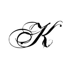 romantic style k monogram vinyl wall art lettering decor