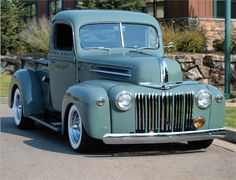 1946 FORD 1/2 TON CUSTOM PICKUP.  It's a little too shiny for me.