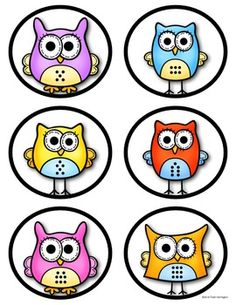"(sample page) ""Owl"" About Numbers 1-10 Cards (Dots, Numerals & Tally Marks). 30 different cards plus 4 (blanks) included. $"