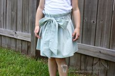 DIY: Make a darling Paper Bag Skirt in girl and women's sizes! --- Make It and Love It