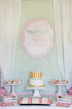 An Elegant Shabby Chic Baptism Dessert Social {+ Tips on Incorporating Printables in Your Next Event} - Anders Ruff Custom Designs, LLC Baptism Party, Baby Party, Baby Shower Parties, Christening Party, It's Your Birthday, Birthday Party Themes, Baptism Desserts, Deco Cupcake, Ideas Para Organizar