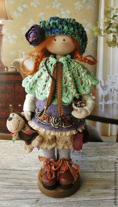Ирен. - сиреневый,рыжий,фиолетовый,кукла ручной работы,куклы ручной работы